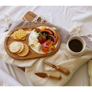 Gourmet Wood & Ceramic Cheese Board